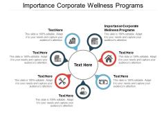 Importance Corporate Wellness Programs Ppt PowerPoint Presentation Infographics Portrait