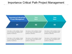 Importance Critical Path Project Management Ppt PowerPoint Presentation Show Aids Cpb