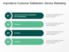 Importance Customer Satisfaction Service Marketing Ppt PowerPoint Presentation Infographics Slide Portrait Cpb