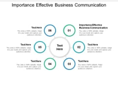 Importance Effective Business Communication Ppt PowerPoint Presentation Pictures Backgrounds Cpb