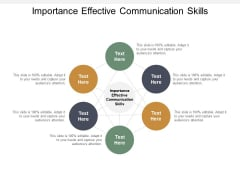 Importance Effective Communication Skills Ppt PowerPoint Presentation Inspiration Layouts Cpb