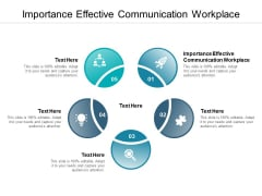 Importance Effective Communication Workplace Ppt PowerPoint Presentation Icon Files Cpb