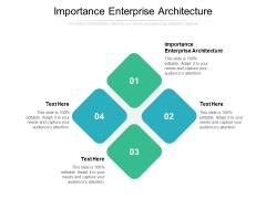 Importance Enterprise Architecture Ppt PowerPoint Presentation Outline Background Designs Cpb