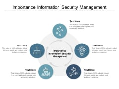 Importance Information Security Management Ppt PowerPoint Presentation Professional Samples