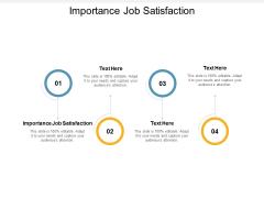 Importance Job Satisfaction Ppt PowerPoint Presentation File Skills Cpb