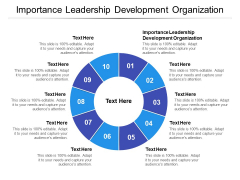 Importance Leadership Development Organization Ppt PowerPoint Presentation Ideas Vector Cpb Pdf