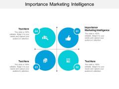 Importance Marketing Intelligence Ppt PowerPoint Presentation File Slideshow Cpb