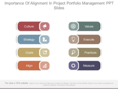 Importance Of Alignment In Project Portfolio Management Ppt Slides