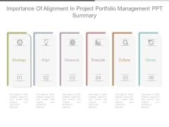 Importance Of Alignment In Project Portfolio Management Ppt Summary