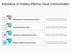 Importance Of Creating Effective Visual Communication Ppt PowerPoint Presentation Gallery Graphics Example PDF