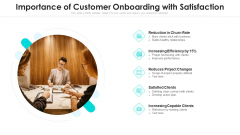 Importance Of Customer Onboarding With Satisfaction Ppt Infographics Graphics Design PDF