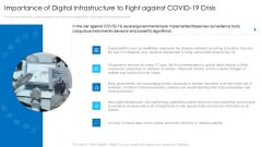 Importance Of Digital Infrastructure To Fight Against Covid19 Crisis Clipart PDF