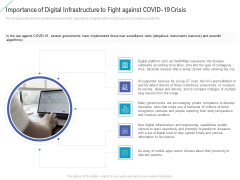Importance Of Digital Infrastructure To Fight Against Covid 19 Crisis Demonstration PDF