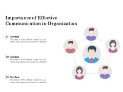 Importance Of Effective Communication In Organization Ppt PowerPoint Presentation File Deck PDF