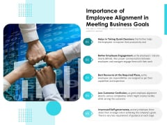 Importance Of Employee Alignment In Meeting Business Goals Ppt PowerPoint Presentation Visual Aids Pictures PDF