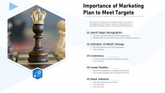 Importance Of Marketing Plan To Meet Targets Ppt Professional Graphics Tutorials PDF
