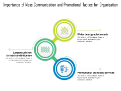 Importance Of Mass Communication And Promotional Tactics For Organization Ppt PowerPoint Presentation File Aids PDF