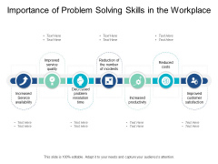 Importance Of Problem Solving Skills In The Workplace Ppt Powerpoint Presentation Styles Show