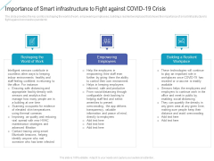 Importance Of Smart Infrastructure To Fight Against Covid 19 Crisis Ideas PDF