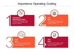 Importance Operating Costing Ppt PowerPoint Presentation Infographics Tips Cpb Pdf