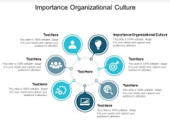Importance Organizational Culture Ppt PowerPoint Presentation Layouts Graphics Tutorials Cpb