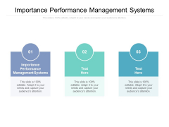 Importance Performance Management Systems Ppt PowerPoint Presentation Gallery Graphics Tutorials Cpb