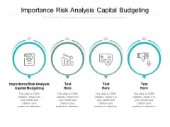 Importance Risk Analysis Capital Budgeting Ppt PowerPoint Presentation Pictures Demonstration Cpb