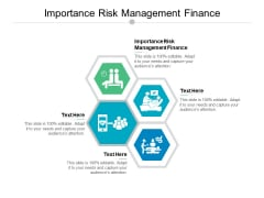 Importance Risk Management Finance Ppt PowerPoint Presentation Icon Influencers Cpb