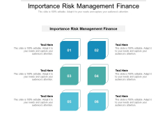 Importance Risk Management Finance Ppt PowerPoint Presentation Inspiration Objects Cpb Pdf