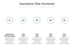 Importance Role Scorecard Ppt PowerPoint Presentation Inspiration Layouts Cpb