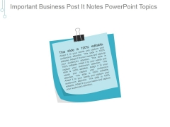 Important Business Post It Notes Ppt PowerPoint Presentation Gallery