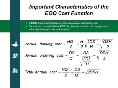 Important Characteristics Of The Eoq Cost Function Ppt PowerPoint Presentation Gallery Slide Download