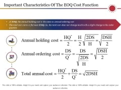 Important Characteristics Of The Eoq Cost Function Ppt PowerPoint Presentation Infographic Template Maker