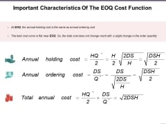 Important Characteristics Of The Eoq Cost Function Ppt PowerPoint Presentation Show Slides