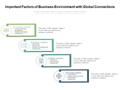 Important Factors Of Business Environment With Global Connections Ppt PowerPoint Presentation Gallery Template PDF