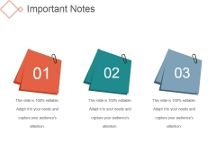 Important Notes Ppt PowerPoint Presentation Backgrounds