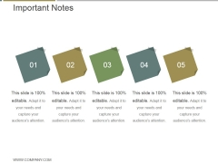 Important Notes Ppt PowerPoint Presentation Icon