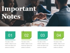 Important Notes Ppt PowerPoint Presentation Inspiration Portfolio