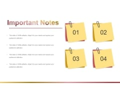 Important Notes Ppt PowerPoint Presentation Outline Visuals