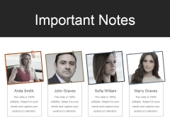 Important Notes Ppt PowerPoint Presentation Professional Deck