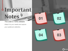 Important Notes Ppt PowerPoint Presentation Professional Format