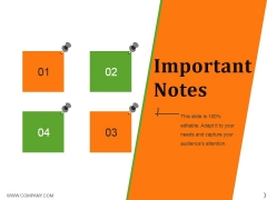 Important Notes Ppt PowerPoint Presentation Professional Images