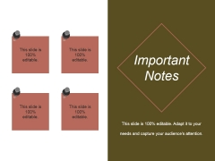 Important Notes Ppt PowerPoint Presentation Summary