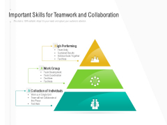 Important Skills For Teamwork And Collaboration Ppt PowerPoint Presentation Gallery Example PDF