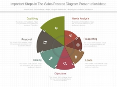 Important Steps In The Sales Process Diagram Presentation Ideas