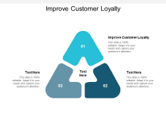 Improve Customer Loyalty Ppt PowerPoint Presentation Layouts Visual Aids Cpb