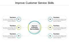 Improve Customer Service Skills Ppt PowerPoint Presentation Icon Background Cpb