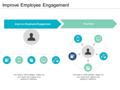 Improve Employee Engagement Ppt PowerPoint Presentation Outline Slideshow Cpb
