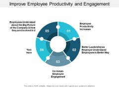 Improve Employee Productivity And Engagement Ppt Powerpoint Presentation Slides