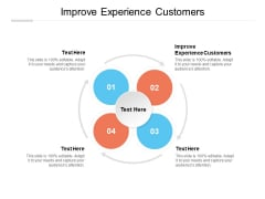 Improve Experience Customers Ppt PowerPoint Presentation Icon Styles Cpb